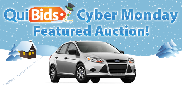 Cyber Monday Featured Auction - a 2013 Ford Focus on QuiBids