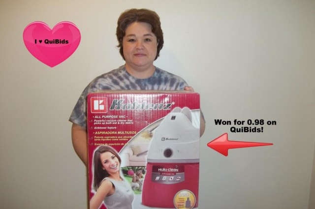 """QuiBids is allowing me to get things for my family that I otherwise would not have been able to afford.  I love getting great deals and QuiBids allows me to do that."""